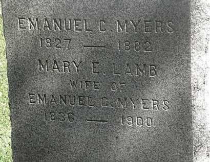 MYERS, EMANUEL C. - Lorain County, Ohio | EMANUEL C. MYERS - Ohio Gravestone Photos