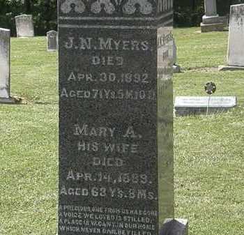 MYERS, MARY A. - Lorain County, Ohio | MARY A. MYERS - Ohio Gravestone Photos