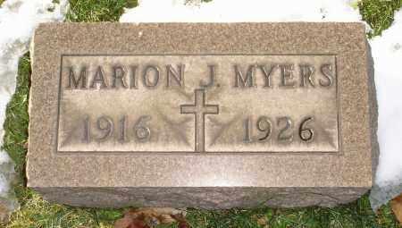 MYERS, MARION J. - Lorain County, Ohio   MARION J. MYERS - Ohio Gravestone Photos