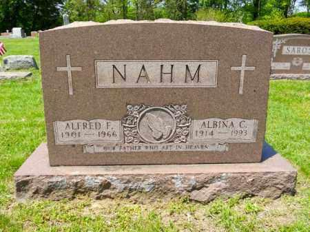 NAHM, ALFRED F. - Lorain County, Ohio | ALFRED F. NAHM - Ohio Gravestone Photos