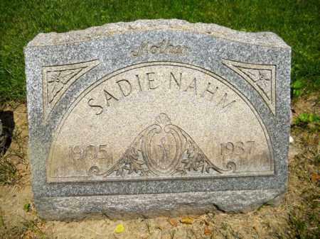 MINOR NAHM, SADIE - Lorain County, Ohio   SADIE MINOR NAHM - Ohio Gravestone Photos