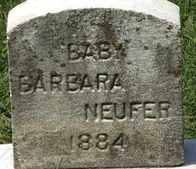 NEUFER, BARBARA - Lorain County, Ohio | BARBARA NEUFER - Ohio Gravestone Photos