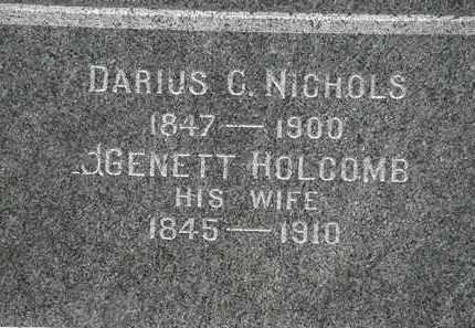 NICHOLS, DARIUS C. - Lorain County, Ohio | DARIUS C. NICHOLS - Ohio Gravestone Photos