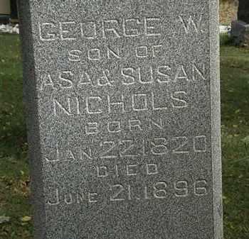 NICHOLS, GEORGE W. - Lorain County, Ohio | GEORGE W. NICHOLS - Ohio Gravestone Photos
