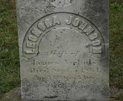 JOHNSON NICHOLS, LENORA - Lorain County, Ohio | LENORA JOHNSON NICHOLS - Ohio Gravestone Photos