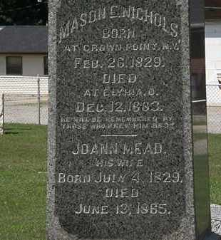 NICHOLS, MASON E - Lorain County, Ohio | MASON E NICHOLS - Ohio Gravestone Photos