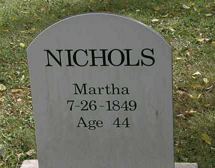 NICHOLS, MARTHA - Lorain County, Ohio   MARTHA NICHOLS - Ohio Gravestone Photos