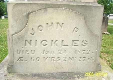 NICKLES, JOHN P. - Lorain County, Ohio | JOHN P. NICKLES - Ohio Gravestone Photos