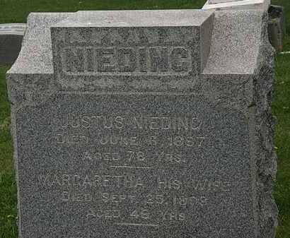 NIEDING, MARGARETHA - Lorain County, Ohio | MARGARETHA NIEDING - Ohio Gravestone Photos