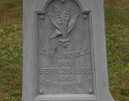 NOBLE, E.M.J. - Lorain County, Ohio | E.M.J. NOBLE - Ohio Gravestone Photos