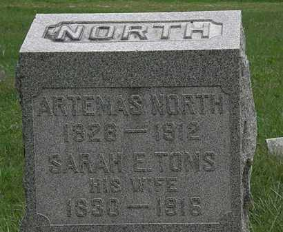 TOMS NORTH, SARAH E. - Lorain County, Ohio | SARAH E. TOMS NORTH - Ohio Gravestone Photos