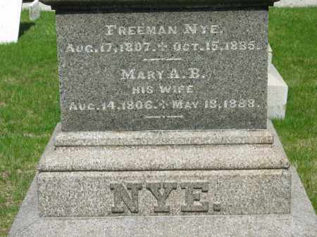 NYE, MARY A. B. - Lorain County, Ohio | MARY A. B. NYE - Ohio Gravestone Photos