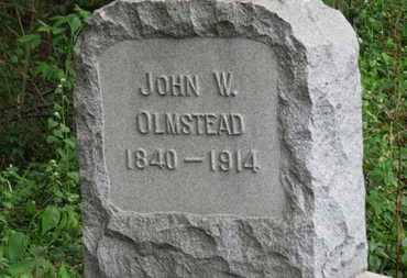 OLMSTEAD, JOHN W. - Lorain County, Ohio | JOHN W. OLMSTEAD - Ohio Gravestone Photos