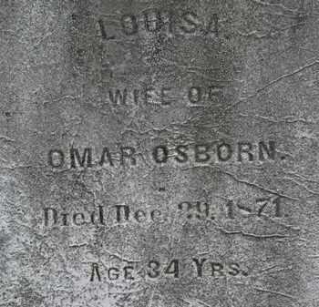 OSBORN, LOUISA - Lorain County, Ohio | LOUISA OSBORN - Ohio Gravestone Photos