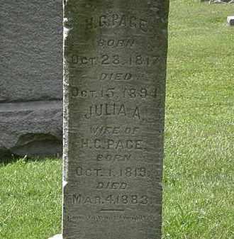 PAGE, JULIA A. - Lorain County, Ohio | JULIA A. PAGE - Ohio Gravestone Photos