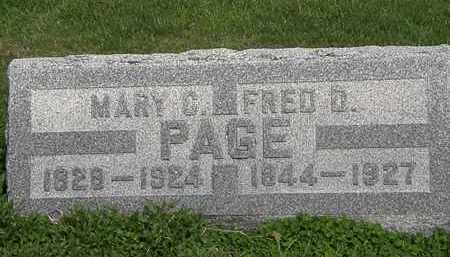 PAGE, FRED D. - Lorain County, Ohio | FRED D. PAGE - Ohio Gravestone Photos