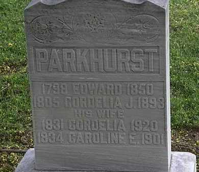 PARKHURST, CORDELIA - Lorain County, Ohio | CORDELIA PARKHURST - Ohio Gravestone Photos