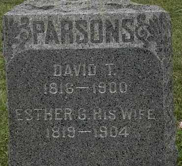 PARSONS, DAVID T. - Lorain County, Ohio | DAVID T. PARSONS - Ohio Gravestone Photos