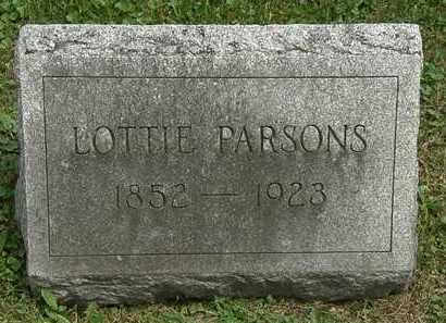 PARSONS, LOTTIE - Lorain County, Ohio | LOTTIE PARSONS - Ohio Gravestone Photos