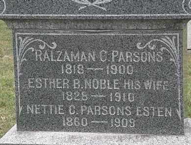 PARSONS ESTEN, NETTIE B. - Lorain County, Ohio | NETTIE B. PARSONS ESTEN - Ohio Gravestone Photos
