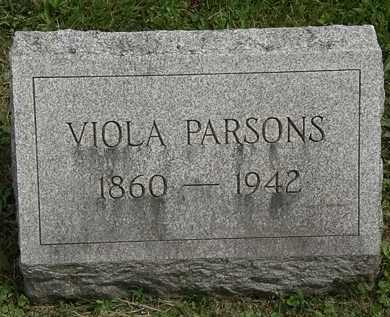 PARSONS, VIOLA - Lorain County, Ohio | VIOLA PARSONS - Ohio Gravestone Photos