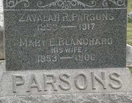 BLANCHARD PARSONS, MARY E. - Lorain County, Ohio | MARY E. BLANCHARD PARSONS - Ohio Gravestone Photos