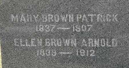 BROWN PATRICK, MARY - Lorain County, Ohio | MARY BROWN PATRICK - Ohio Gravestone Photos