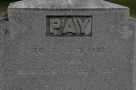 PAY, GEO. S. - Lorain County, Ohio | GEO. S. PAY - Ohio Gravestone Photos