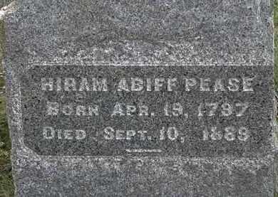 PEASE, HIRAM ABIFF - Lorain County, Ohio   HIRAM ABIFF PEASE - Ohio Gravestone Photos