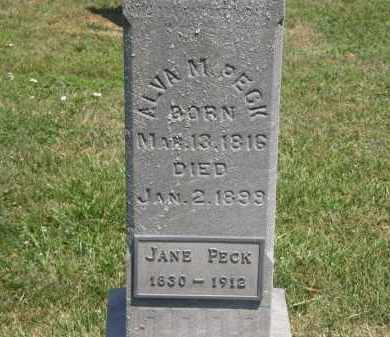 PECK, ALVA - Lorain County, Ohio | ALVA PECK - Ohio Gravestone Photos