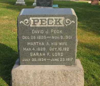 PECK, MARTHA A. - Lorain County, Ohio | MARTHA A. PECK - Ohio Gravestone Photos