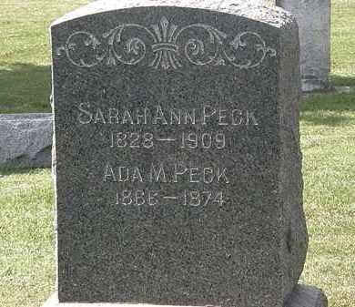PECK, SARAH ANN - Lorain County, Ohio   SARAH ANN PECK - Ohio Gravestone Photos