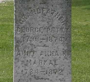 PETTY, GEORGE - Lorain County, Ohio | GEORGE PETTY - Ohio Gravestone Photos