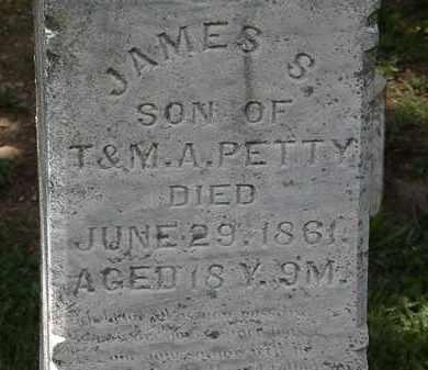 PETTY, JAMES S. - Lorain County, Ohio | JAMES S. PETTY - Ohio Gravestone Photos