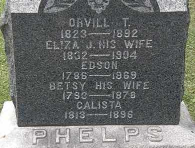 PHELPS, ELIZA J. - Lorain County, Ohio | ELIZA J. PHELPS - Ohio Gravestone Photos