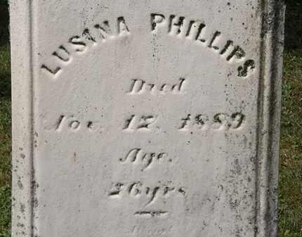 PHILLIPS, LUSINA - Lorain County, Ohio | LUSINA PHILLIPS - Ohio Gravestone Photos