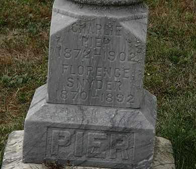 SNYDER PIER, FLORENCE - Lorain County, Ohio | FLORENCE SNYDER PIER - Ohio Gravestone Photos
