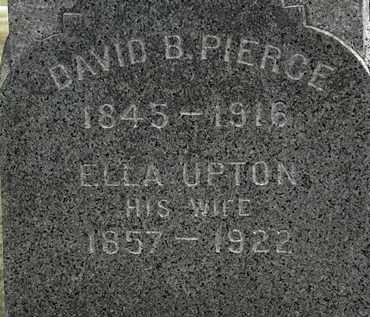 UPTON PIERCE, ELLA - Lorain County, Ohio | ELLA UPTON PIERCE - Ohio Gravestone Photos