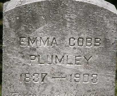 PLUMLEY, EMMA COBB - Lorain County, Ohio | EMMA COBB PLUMLEY - Ohio Gravestone Photos