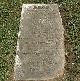 POND, PERCY MARTYN - Lorain County, Ohio | PERCY MARTYN POND - Ohio Gravestone Photos