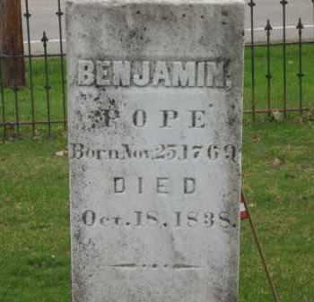 POPE, BENJAMIN - Lorain County, Ohio | BENJAMIN POPE - Ohio Gravestone Photos