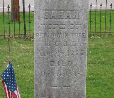 POPE, SARAH - Lorain County, Ohio | SARAH POPE - Ohio Gravestone Photos