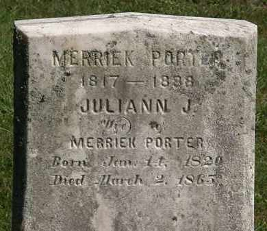 PORTER, JULIANN J. - Lorain County, Ohio | JULIANN J. PORTER - Ohio Gravestone Photos