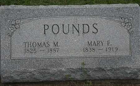 POUNDS, THOMAS M. - Lorain County, Ohio   THOMAS M. POUNDS - Ohio Gravestone Photos