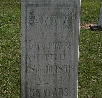 POWERS, ANNY - Lorain County, Ohio   ANNY POWERS - Ohio Gravestone Photos