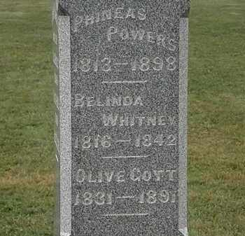 COTT POWERS, OLIVE - Lorain County, Ohio | OLIVE COTT POWERS - Ohio Gravestone Photos