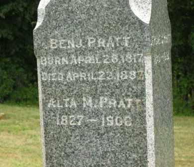 PRATT, BENJ. - Lorain County, Ohio | BENJ. PRATT - Ohio Gravestone Photos