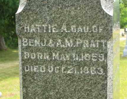 PRATT, HATTI A. - Lorain County, Ohio | HATTI A. PRATT - Ohio Gravestone Photos