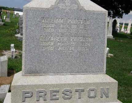 PRESTON, ELIZABETH - Lorain County, Ohio | ELIZABETH PRESTON - Ohio Gravestone Photos