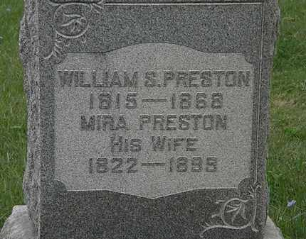 PRESTON, WILLIAM S. - Lorain County, Ohio | WILLIAM S. PRESTON - Ohio Gravestone Photos